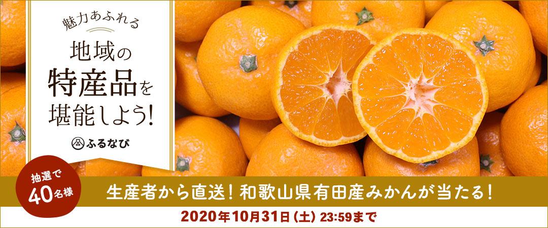 生産者から直送!エントリー&寄附で和歌山県有田産みかんが40名様に当たる!