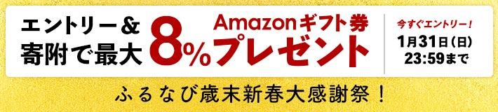 Amazonギフト券 エントリー&寄附で最大8%プレゼント!