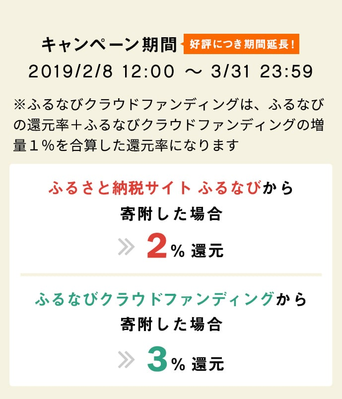 キャンペーン期間 2019/2/8~3/31