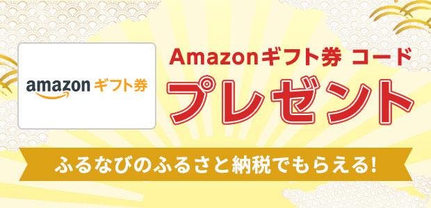 ふるなびで、ふるさと納税をするとAmazonギフト券 コードプレゼント!