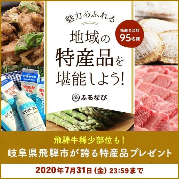 エントリー&寄附で岐阜県飛騨市が誇る特産品が抽選で合計95名様に当たる!