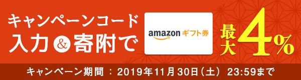 ふるなび会員限定!Amazonギフト券コード最大4%キャンペーン