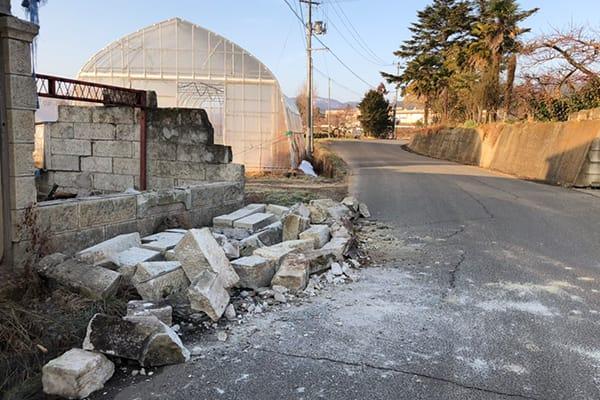 福島県桑折町 令和3年2月 福島県沖地震 災害支援