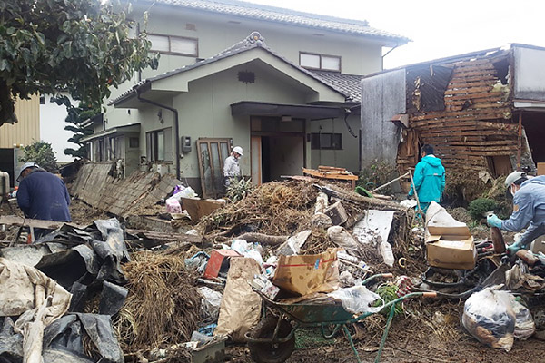 長野県佐久市 令和元年台風19号 災害支援