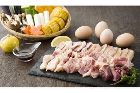 【2619-0010】新鮮!名古屋コーチンの焼肉セット(名古屋コーチン卵のおまけ付き)