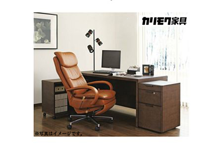【2629-0068】[カリモク家具]デスクチェア D/椅子 イス 本革 レザー 家具 オシャレ 愛知県