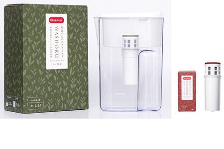 【ふるさと納税】クリンスイポット型浄水器 WASHOKUシリーズ「お茶をおいしくするための水(JP407-T)」 お米用交換用カートリッジ付