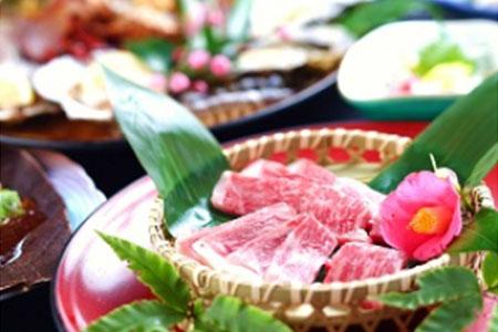 0547 忍者ゆかりの温泉の日帰り入浴と伊賀牛と海鮮のあみ焼き料理 2名様分