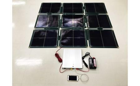 折り畳み式ソーラーパネルと蓄電池【nanoGrid】