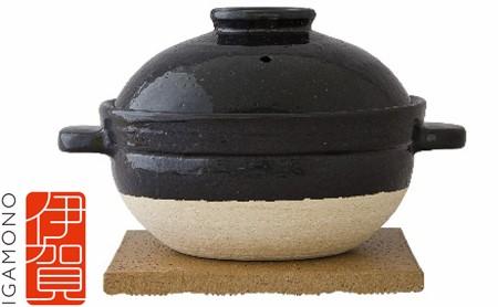 伊賀焼 炊飯土鍋「かまどさん」二合炊き