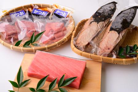 【C11】天然本マグロの中トロ&漬け鰹&鰹のタタキ 贅沢三昧セット