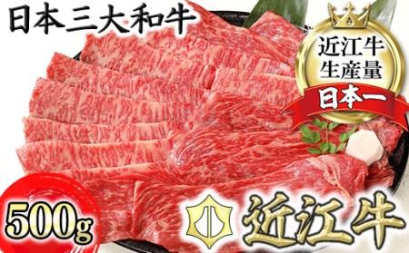 【4等級以上】厳選 近江牛 すき焼き・しゃぶしゃぶ【500g】【BS01SM】