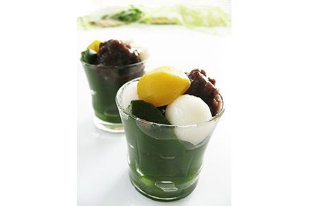 【2621-0069】お茶屋の宇治ほうじ茶ロールケーキと宇治抹茶ゼリー