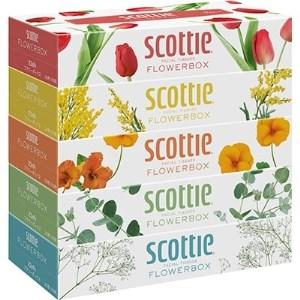 【ボックスティッシュ】 スコッティティシューフラワーボックス 60箱(1ケース5箱×12パック)【1126554】
