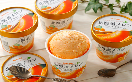 [156]北海道メロンアイスクリーム12個セット