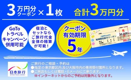 日本旅行 宮津市地域限定旅行クーポン【30,000円分】