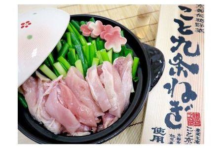 京都産九条ねぎ 鶏の葱鍋セット4人前(2人前×2)