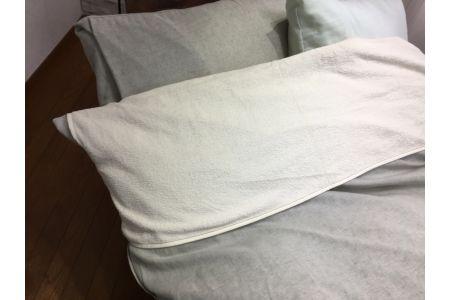 【2628-0497】【限定50枚】綿100%タオル生地 布団 襟カバー シングル ベージュ 1枚