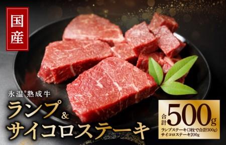 010B330 氷温熟成牛 ランプステーキセット(合計500g)