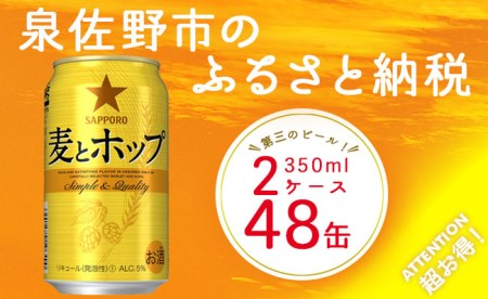 B408 麦とホップ(第三のビール) 350ml×2ケース