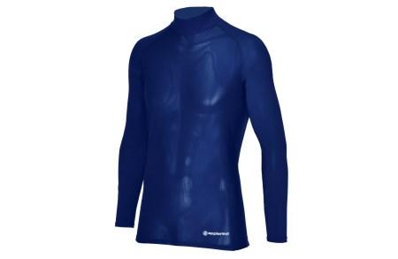 ハイネック長袖 UVカットシャツ(男性用Lサイズ・ネイビー)