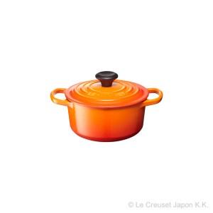 Le Creuset ル・クルーゼ シグニチャーココット・ロンド 16cm (オレンジ)