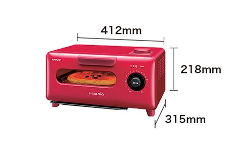 ウォーターオーブン専用機 AX-H1-R (レッド系)