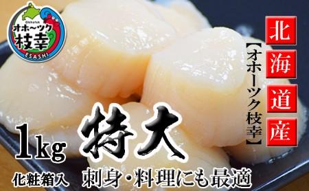 特大ジャンボほたて貝柱!たっぷり1kg【枝幸ほたて】海洋食品