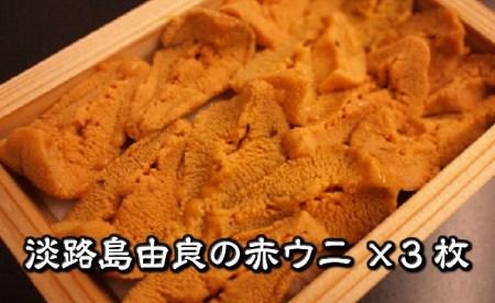 B023◇淡路産由良の赤ウニ(80g×3枚)