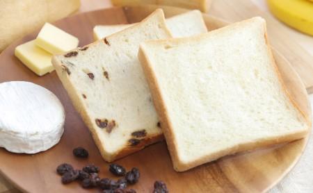 ふんわりもっちり食パン2斤とたっぷりレーズン食パン1斤セット【配送不可:離島】 5枚切/斤