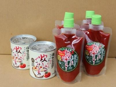 J10 田中農園のトマトピューレと炊き込みごはんの素