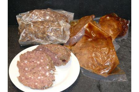 G2 鹿肉のサラミソーセージとドミグラスハンバーグ