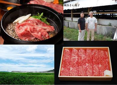 KBS-04城谷牧場の神戸ビーフ(神戸牛)すきやき・しゃぶしゃぶ用500g