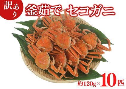 07-09 【訳あり・増量・数量限定!】兵庫県香住産 釜茹でセコガニ 10匹入り