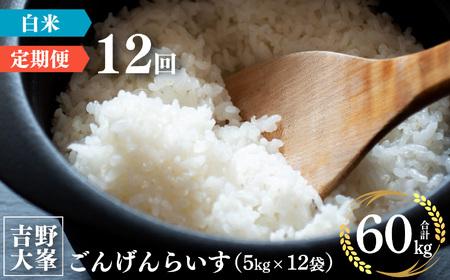【2904-F20】奈良のお米のお届け便 5kg×1年分《水本米穀店》