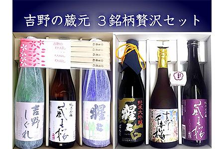 【B-080】吉野の地酒3銘柄贅沢セット《大七沢井酒店》