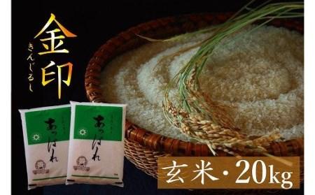 【B025-4】今井農場 あっぱれ金印20kg(玄米)
