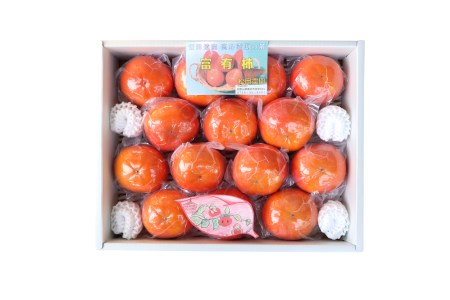 松岡農園 最高級冷蔵富有柿 特選2Lサイズ14個入り