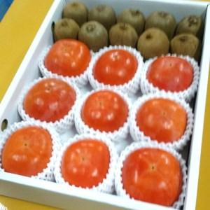 ケーズファーム最高級 冷蔵富有柿(9個、赤秀3Lサイズ)