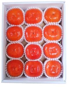 ケーズファーム最高級 冷蔵富有柿(12個、赤秀2Lサイズ)