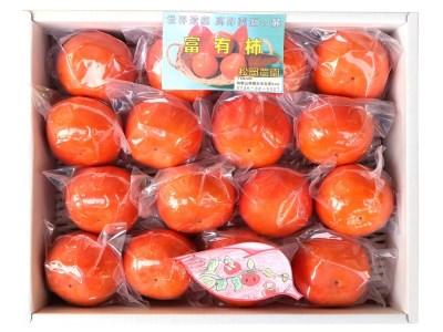 松岡農園最高級 冷蔵富有柿 特選Lサイズ16個入り