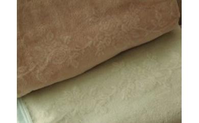 『綿毛布 ロングタイプ』ベージュ/グリーン【三和シール工業株式会社】