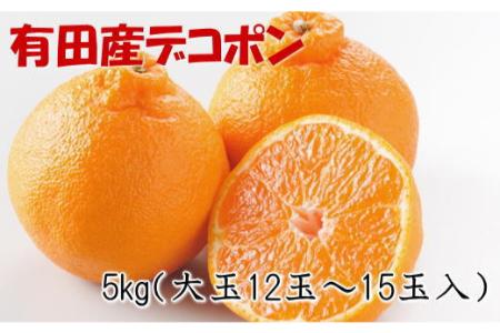 【2612-1253】【お味濃厚】紀州有田産の大玉デコポン約5kg(12玉~15玉入り)