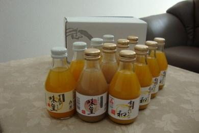 果樹園紀の国 味皇・和・桃味皇 (180ml×各4本)12本入セット