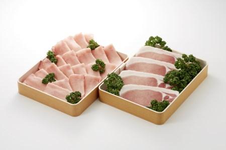 厳選黒豚ロース テキ用(100g × 4枚)& しゃぶ用(400g)