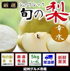 シャリシャリ食感 旬の梨 幸水 5Kg(L~4L) 紀州グルメ市場