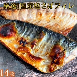 国産 塩さばフィレ14枚入 (真空パック入)【魚鶴商店】◇