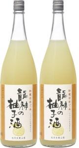 【2613-0009】和歌のめぐみ「龍神の柚子酒」1.8L 2本