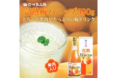 【p-03】紀州南高梅 完熟梅ハニップ 果肉入り 590g 【2本セット】