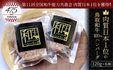 肉質日本1位の鳥取和牛100%ハンバーグ